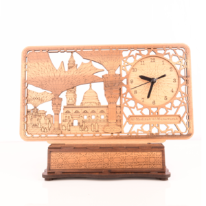 Islamnic Wooden Office Clock