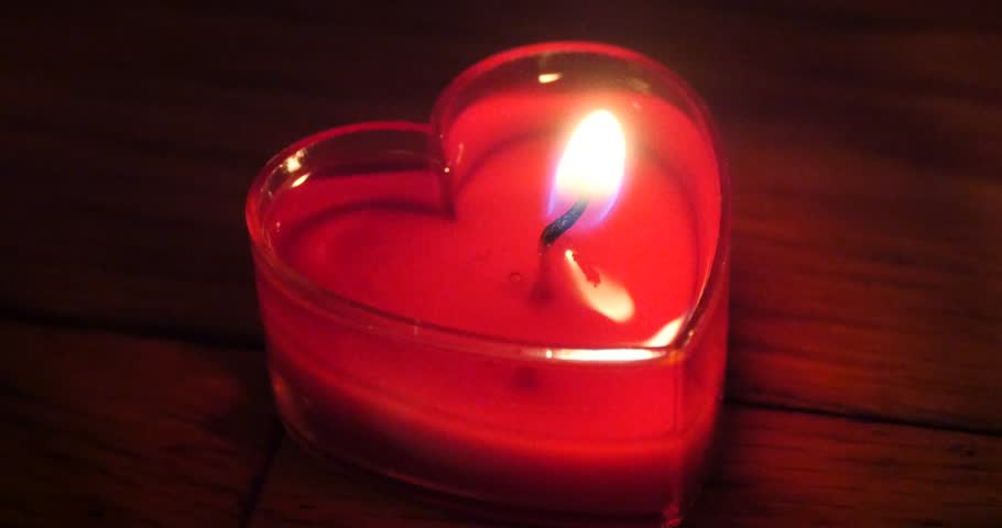Scented Heart-Shaped Candles for Valentine's Day
