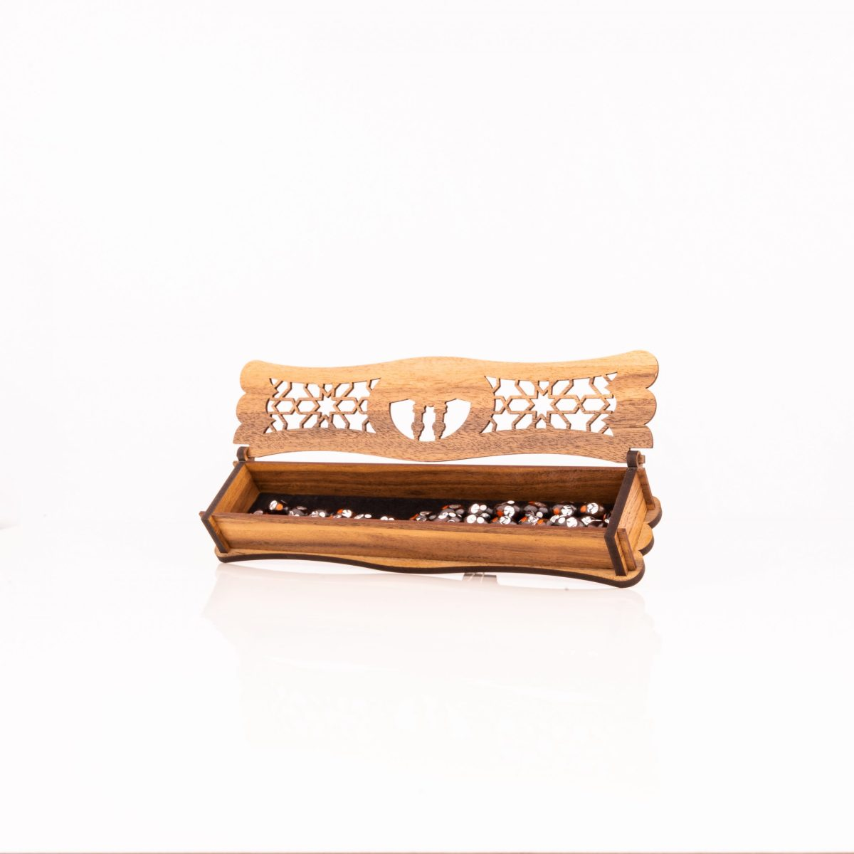 Subha Wooden Box With Holy Mecca Engravings (نسخة)