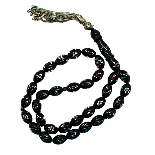 Black Subha with Blue and Red Circles