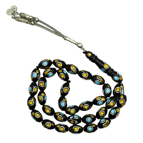 Black Subha with Yellow and Blue Circles