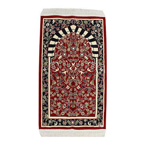 prayer mat in red color